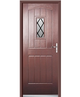 Ultimate English Cottage Rockdoor in Rosewood with Diamond Lead