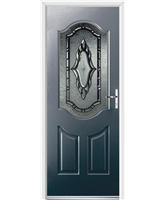 Ultimate Georgia Rockdoor in Anthracite Grey with Constellation Glazing