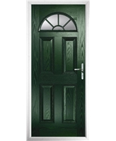 The Jamestown Composite Door in Green with Clear Glazing