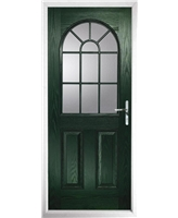 The Leeds Composite Door in Green with Clear Glazing