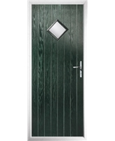 The Reading Composite Door in Green with Glazing