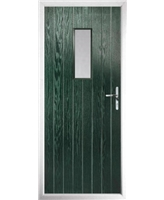 The Taunton Composite Door in Green with Clear Glazing