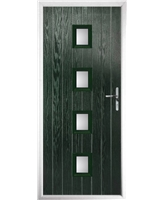 The Uttoxeter Composite Door in Green with Glazing