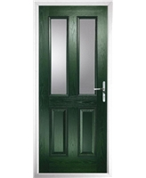 The Cardiff Composite Door in Green with Clear Glazing