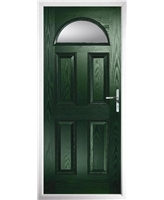 The Derby Composite Door in Green with Clear Glazing