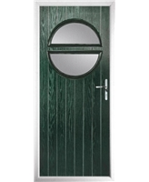 The Queensbury Composite Door in Green with Clear Glazing