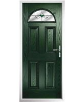 The Derby Composite Door in Green with Green Crystal Bohemia