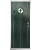The Reading Composite Door in Green with Green Diamond