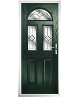 The Glasgow Composite Door in Green with Simplicity