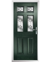 The Oxford Composite Door in Green with Simplicity