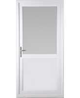 Kirkcaldy Half Flat Panel uPVC High Security Door