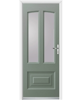 Ultimate Illinois Rockdoor in Chartwell Green with Clear Glazing
