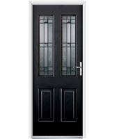 Ultimate Jacobean Rockdoor in Onyx Black with Apollo