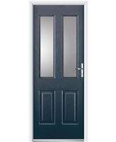 Ultimate Jacobean Rockdoor in Anthracite Grey with Clear Glazing