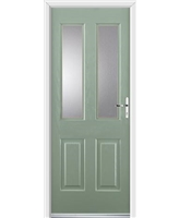 Ultimate Jacobean Rockdoor in Chartwell Green with Clear Glazing