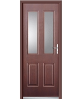 Ultimate Jacobean Rockdoor in Rosewood with Clear Glazing