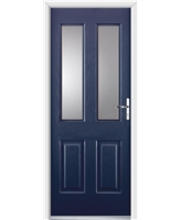 Ultimate Jacobean Rockdoor in Sapphire Blue with Clear Glazing