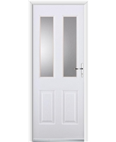 Ultimate Jacobean Rockdoor in White with Clear Glazing