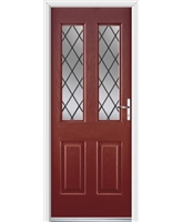 Ultimate Jacobean Rockdoor in Ruby Red with Diamond Lead