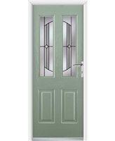 Elite Jacobean Rockdoor in Chartwell Green with Ellipse Glazing