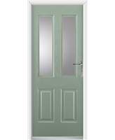Jacobean Rockdoor in Chartwell Green with Glazing