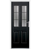 Jacobean Rockdoor in Onyx Black with Square Lead
