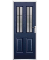 Elite Jacobean Rockdoor in Sapphire Blue with Square Lead