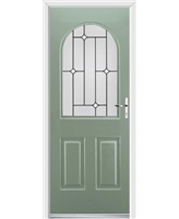 Ultimate Kentucky Rockdoor in Chartwell Green with White Diamonds