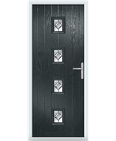 The Uttoxeter Composite Door in Grey (Anthracite) with Simplicity