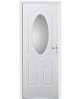 Ultimate Montana Rockdoor in White with Clear Glazing