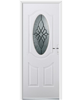Ultimate Montana Rockdoor in White with Renaissance Glazing