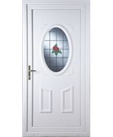 Stoke Single Rose uPVC Door