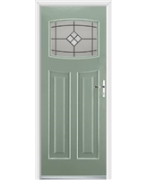 Ultimate Newark Rockdoor in Chartwell Green with Bright Star Glazing