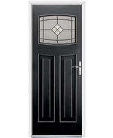 Ultimate Newark Rockdoor in Onyx with Bright Star Glazing