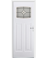 Ultimate Newark Rockdoor in White with Bright Star Glazing
