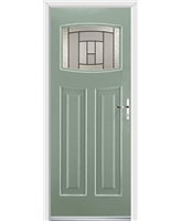 Ultimate Newark Rockdoor in Chartwell Green with Citadel Glazing