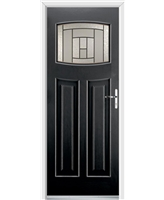 Ultimate Newark Rockdoor in Onyx with Citadel Glazing