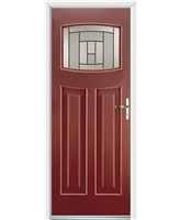Ultimate Newark Rockdoor in Ruby Red with Citadel Glazing