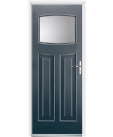 Ultimate Newark Rockdoor in Anthracite Grey with Clear Glazing