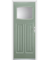 Ultimate Newark Rockdoor in Chartwell Green with Clear Glazing