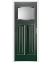 Ultimate Newark Rockdoor in Emerald Green with Clear Glazing