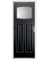 Ultimate Newark Rockdoor in Onyx with Clear Glazing