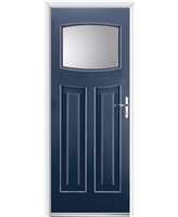 Ultimate Newark Rockdoor in Sapphire Blue with Clear Glazing