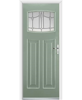 Ultimate Newark Rockdoor in Chartwell Green with Lantern Glazing