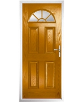 The Jamestown Composite Door in Oak with Clear Glazing