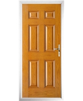 The Hull Composite Door in Oak