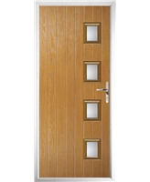 The Preston Composite Door in Oak with Clear Glazing