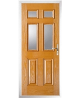 The Oxford Composite Door in Oak with Clear Glazing