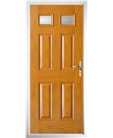 The Ipswich Composite Door in Oak with Glazed