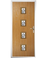 The Uttoxeter Composite Door in Oak with Simplicity